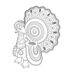 cock doodle dymkovo toy vector image