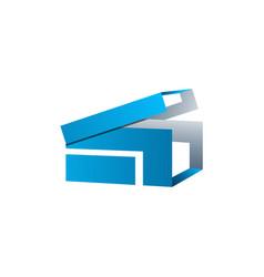 creative box abstract emblem design concept logo vector image