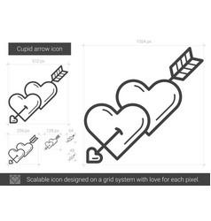 cupid arrow line icon vector image