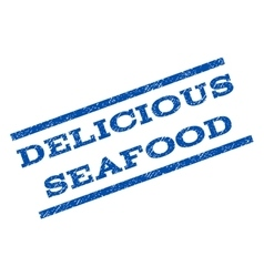 Delicious Seafood Watermark Stamp vector