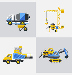 Digital yellow construction vector
