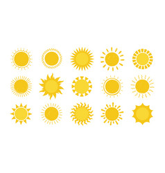 doodle sun hand drawn simple graphic circle solar vector image