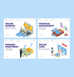 financial landing page business and finance vector image