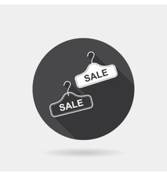 Flat concept big sale icon with long shadowhanger vector image