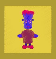 Flat shading style icon zombie men vector
