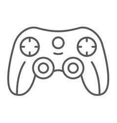 game controller thin line icon game and play vector image