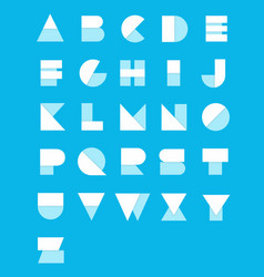 Geometric paper alphabet set vector
