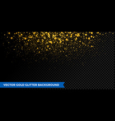 gold glitter christmas confetti effect background vector image