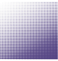 halftone dots background ultra violet dots on vector image