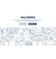 halloween banner design vector image