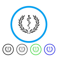 Healh care emblem rounded icon vector