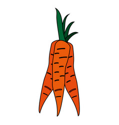healthy fresh vegetable icon vector image