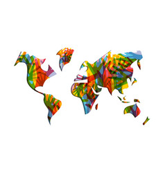 human solidarity day world map hands vector image