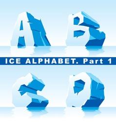 Ice alphabet 01 vector