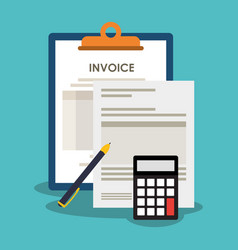 Invoice economy related icons image vector