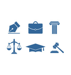 Law equipment icon vector