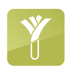 Leek outline icon vegetable vector