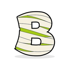 Letter B Monster zombie Alphabetical icon medical vector