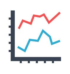 line diagram flat icon vector image