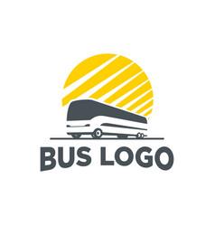 logo bus silhouette vector image