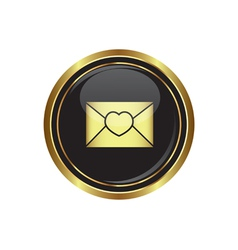 Mail icon with heart vector
