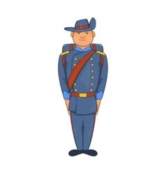 Man in a blue army uniform 19th century icon vector image