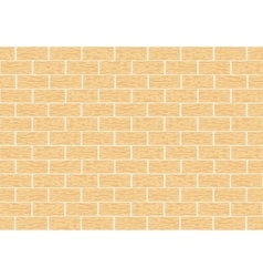 Masonry of yellow brick vector