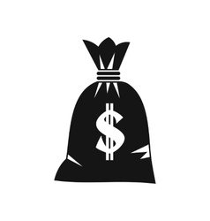 Money bag icon simple style vector image