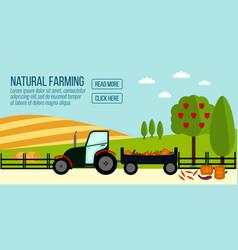 natural farming banner vector image