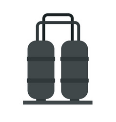 Oil processing factory icon flat style vector