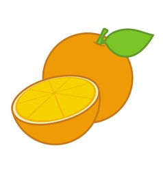 Orange sliced vector