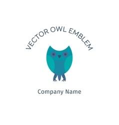 Owl Emblem vector image vector image