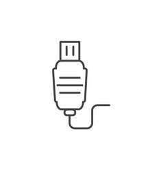 Plug usb cable technology icon line design vector
