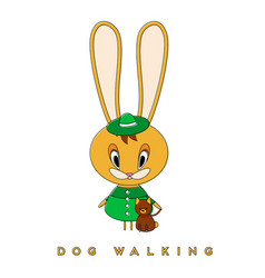 rabbit and dog vector image