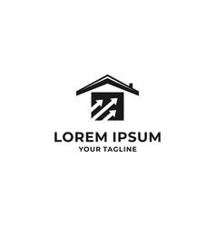 real estate design black color template vector image