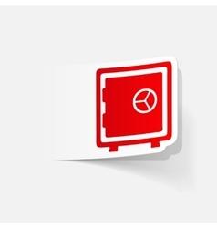 realistic design element safe vector image