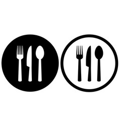 restaurant sign with spoon fork knife icons vector image