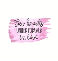 Romantic quote Love text for valentine day vector