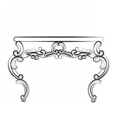 Royal table in baroque rococo style vector