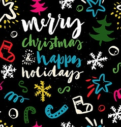 Seamless Christmas pattern The pattern is painted vector image