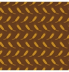 Seamless pattern with wheat vector