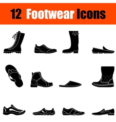Set of mans footwear icons vector image