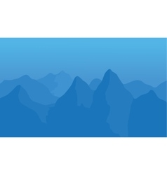 Silhouette of snow in mountains vector image