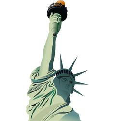 Statue liberty in new york vector