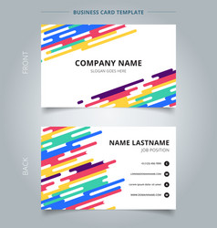 Template name card abstract colorful rounded vector