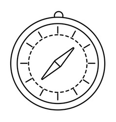 time chronometer cartoon vector image