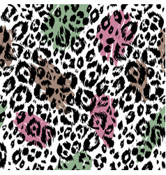 trendy textured animal pattern vector image