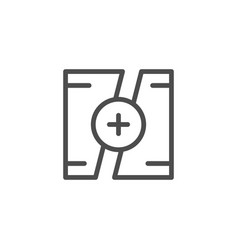 Video montage line icon vector