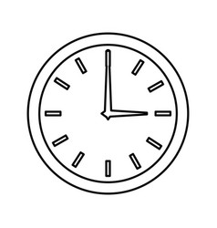Watch clock isolated icon vector