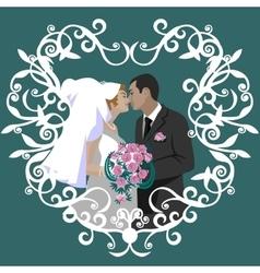 Wedding couple 06 vector image